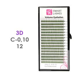 PLN Trsy Volume Lashes 3D - C - 0,10 mm x 12 mm pásiky - 16 - Kvalita - Premium