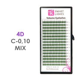 PLN Trsy Volume Lashes 4D - C - 0,10 mm x MIX 8-15 mm