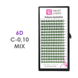 PLN Trsy Volume Lashes 6D - C - 0,10 mm x MIX 8-15 mm