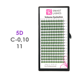 PLN Trsy Volume Lashes 5D - C - 0,10 mm x 11 mm pásiky - 16 - Kvalita - Premium