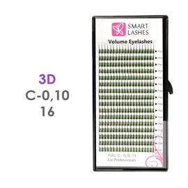 PLN Trsy Volume Lashes 3D - C - 0,10 mm x 16 mm pásiky - 16 - Kvalita - Premium