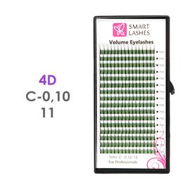 PLN Trsy Volume Lashes 4D - C - 0,10 mm x 11 mm pásiky - 16 - Kvalita - Premium