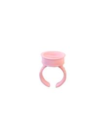 Jednorazowy pierścień klejący Nr. 1 - 1 szt - różowy