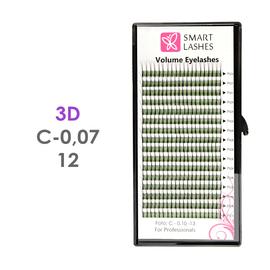 Trsy 3D - C - 0,07 mm x 12 mm - 16 řádků