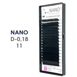 NANO rzęsy - C - 0,18 mm x 7 mm - w pudełku - 16