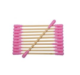 Bambusowe patyczki bawełniane - różowe   Smart Lashes