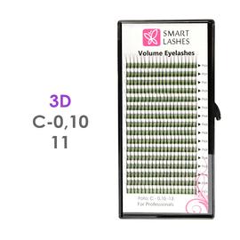 PLN Trsy Volume Lashes 3D - C - 0,10 mm x 11 mm pásiky - 16 - Kvalita - Premium