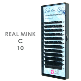 PLN Norkové riasy - C x 10 mm - pásiky - 12 - Smart Lashes   Smart Lashes