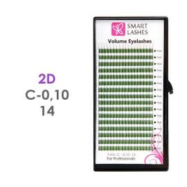 PLN Trsy Volume Lashes 2D - C - 0,10 mm x 14 mm pásiky - 16 - Kvalita - Premium