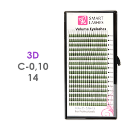 PLN Trsy Volume Lashes 3D - C - 0,10 mm x 14 mm pásiky - 16 - Kvalita - Premium