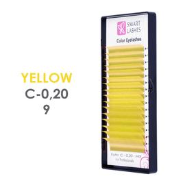 PLN Žlté 3D mihalnice - C - 0,20 mm x 9 mm pásiky - 12
