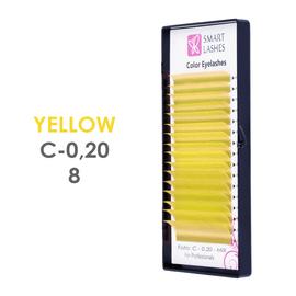 PLN Žlté 3D mihalnice - C - 0,20 mm x 8 mm pásiky - 12