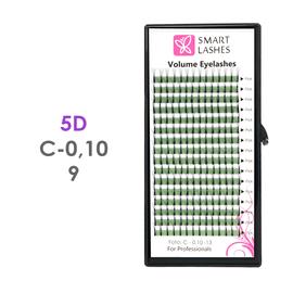 PLN Trsy Volume Lashes 5D - C - 0,10 mm x 9 mm pásiky - 16 - Kvalita - Premium