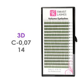 Trsy 3D - C - 0,07 mm x 14 mm - 16 řádků