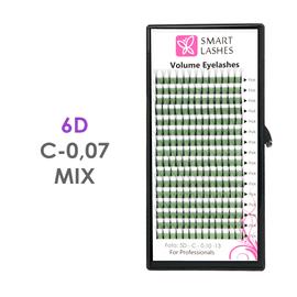 Trsy 6D - C - 0,07 mm x MIX 8-15 mm - 16 řádků
