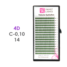 PLN Trsy Volume Lashes 4D - C - 0,10 mm x 14 mm pásiky - 16 - Kvalita - Premium
