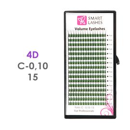 PLN Trsy Volume Lashes 4D - C - 0,10 mm x 15 mm pásiky - 16 - Kvalita - Premium