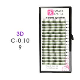 PLN Trsy Volume Lashes 3D - C - 0,10 mm x 9 mm pásiky - 16 - Kvalita - Premium