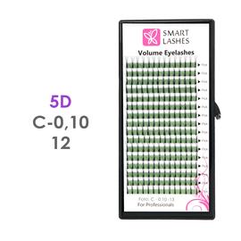 PLN Trsy Volume Lashes 5D - C - 0,10 mm x 12 mm pásiky - 16 - Kvalita - Premium