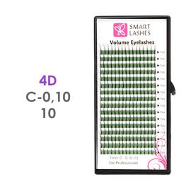 PLN Trsy Volume Lashes 4D - C - 0,10 mm x 10 mm pásiky - 16 - Kvalita - Premium