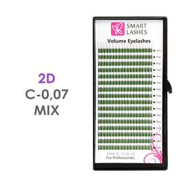 Trsy 2D - C - 0,07 mm x MIX 8-15 mm - 16 řádků