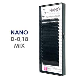 NANO rzęsy - C - 0,18 mm x MIX 8-15 mm - w pudełku - 16